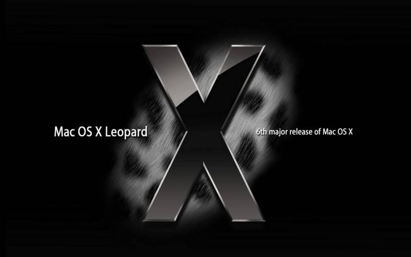 Mac os x leopard fond ecran tons fonces noir 6eme release for Mac fenetre hors ecran