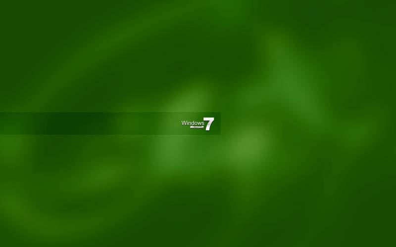 Windows seven fond ecran vert windows 7 0001