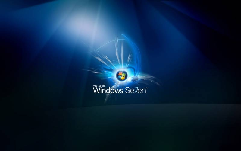 Windows seven fond ecran windows 7, splash avec tons bleus foncés