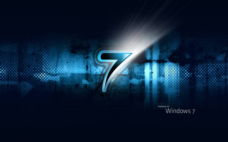 windows seven fond ecran windows 7 style moderne sur fond mur fonds cran. Black Bedroom Furniture Sets. Home Design Ideas