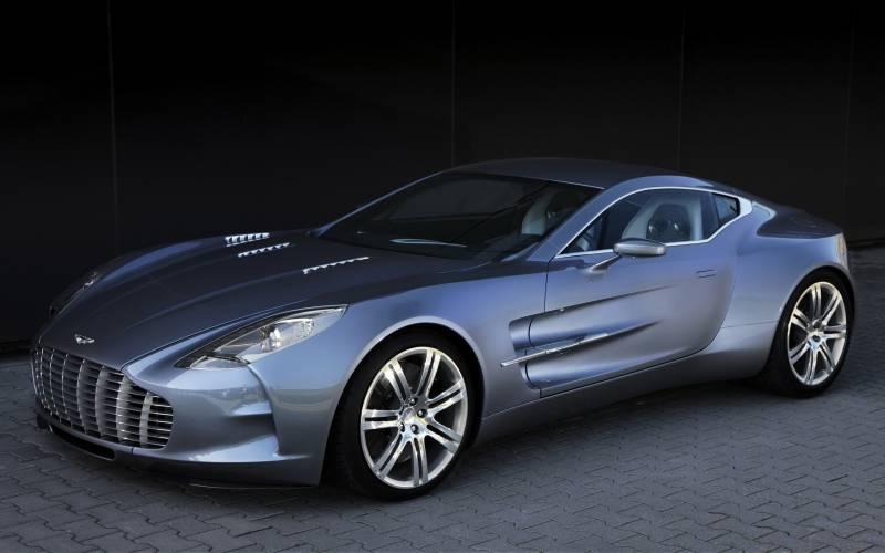 Fond Ecran Aston Martin Gris Metallique Voiture Sportive Fonds Ecran