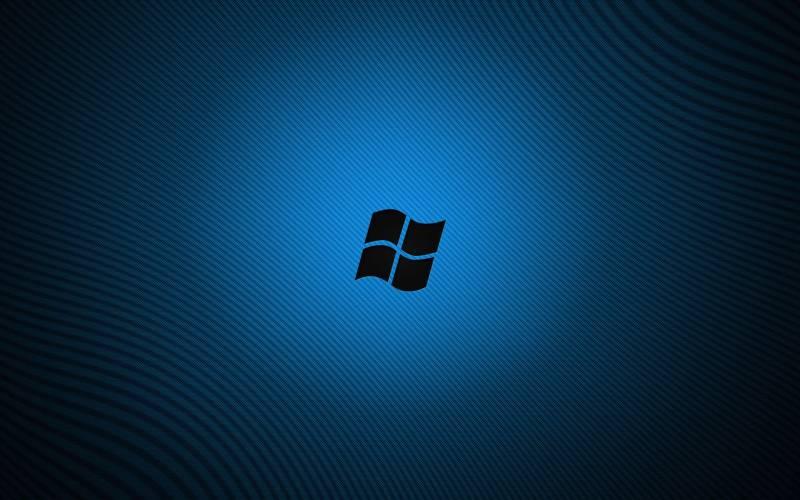 Windows Seven Fond Ecran Windows 7 Ombre Logo Sur Fond Bleu