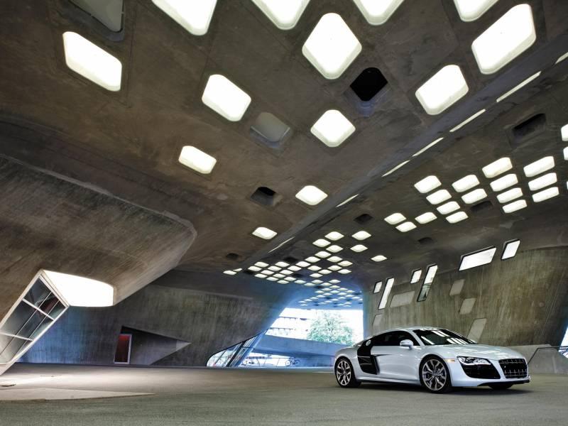 Fond Ecran Audio A8 Blanche Seule Parking Garage Design