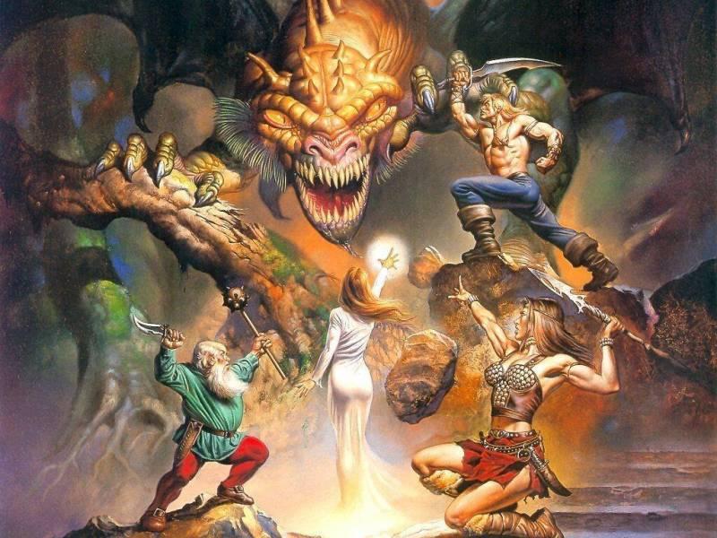 Fond Ecran Valereux Guerriers Et Sorciere Combattant Le Dragon Image Fond Ecran 0020 Fonds Ecran